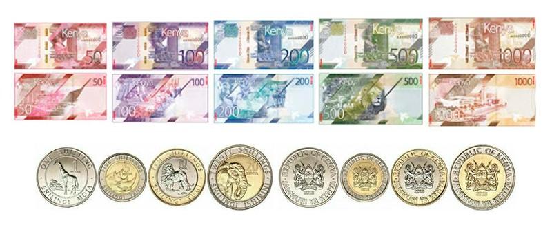 monedas kenia