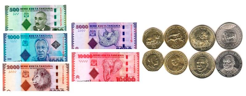 monedas billetes tanzania